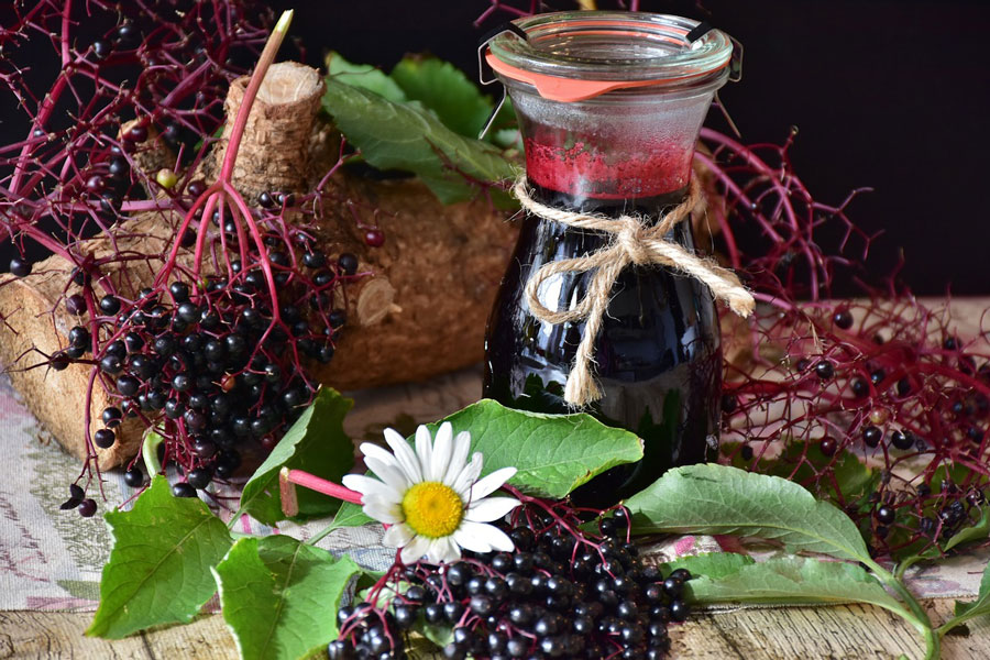 My Immune enhancing home- made Elderberry syrup